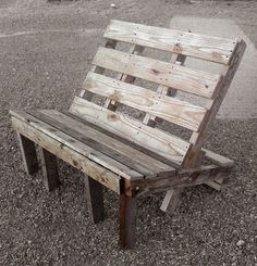 #pallet bench #upcycle #diy