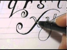 ▶ Fancy Cursive Writing - How To Write ABC in Fancy Letters - YouTube