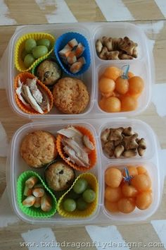 Love these Bento Box Lunch ideas packed in @EasyLunchboxes