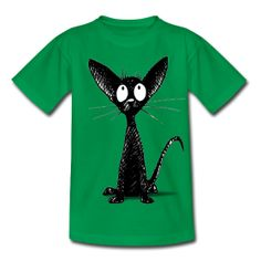 Cute Oriental Black Cat by Paul Stickland from Spreadshirt  Kids' Classic T-Shirt