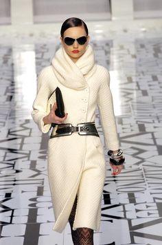 Valentino winter white coat & belt