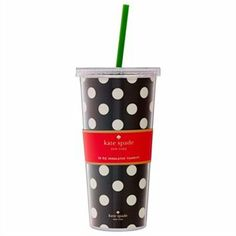 INSULATED TUMBLER BLACK DOTS by @kate spade new york  #KateSpadeNY #IndigoKateSpadeNY #IndigoPaper