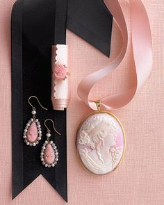 Pink cameos