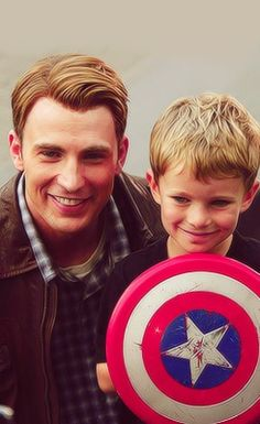 Not only is this kid adorable, but lucky too! First #Loki and now #CaptainAmerica! #TheAvengers avengers