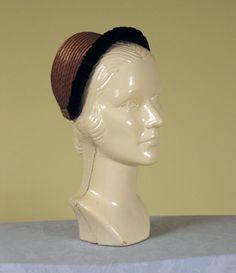 1870-1880 ___ Bonnet ___ straw & velvet ___ from The Tasha Tudor Collection at 2012 Whitaker Auction