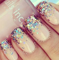 nude nails, glitter nails, sparkle nails, nail design, bling nails, party nails, art nails, sparkly nails, nail art