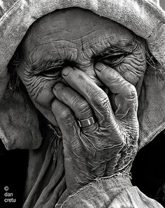There is raw beauty in aging. Every experience, pain, joy, and heartache are etched in lines -- like the rings in a tree trunk.  A season & time says The Lord.