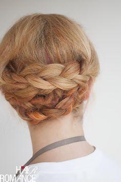 easi braid, updo hair tutorials, hair romance, color, romances, braid updo