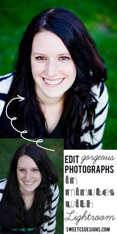 How to edit gorgeous photographs in just a few minutes with Adobe Lightroom- you will be AMAZED how easy it is to get great portraits!