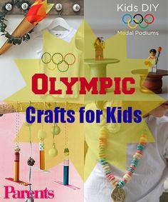 "Olympic crafts! (parents.com) + use iPad app ""Fantastic Fireworks"" https://itunes.apple.com/us/app/fantastic-fireworks-fun-fireworks/id680864510?mt=8 to celebrate Olympics with kids"