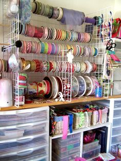 sewing room storage, storage solutions, gift wrapping, sewing organization, sew room, sewing rooms, couture sewing, craft room storage, craft rooms