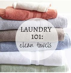 How to launder your towels, keep them bright white and fluffy, and get rid of that dreaded mildew scent if you need to.