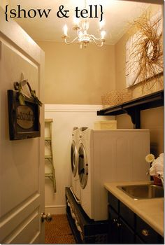 Laundry Room Re-do:  Great ideas for organizing a small laundry room.