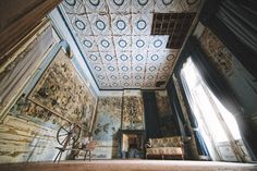 castle tin roof spindle Haunting photos of abandoned castles