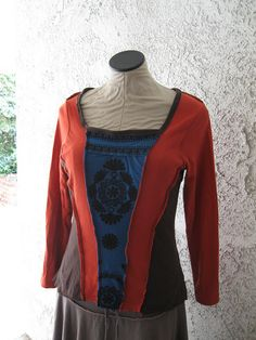 Corset Style top made from 3 recycled t-shirts by atgaiva, via Flickr