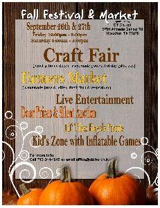 Texas Fair/Festival .. Fall Festival & Market In Houston, TX In September 2014