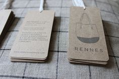 hang tag; one side introducing biz