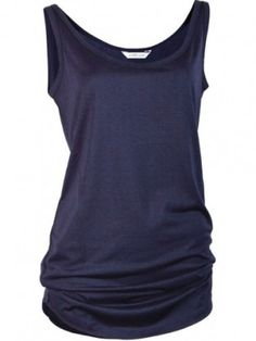 A longer length vest top. Loose fit tank with gentle curved hem. Lightweight, breathable, softest Tencel jersey fabric to create a soft shape. The PERFECT layering top - wear on its own or with a cami underneath. Easy & slouchy style for a comfortable, flattering silhouette. Embellished with a discreet row of Swarovski crystal, the Asquith yoga signature.70% Tencel 30% Organic Cotton Machine wash 30°C Available in: Apricot, Navy & Soft Grey.