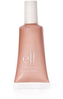 Apply to inner corners of eyes and brow bones as well as upper lip and under eyes.  Makes your face glow all over.  $1 at Target. This is an inexpensive substitute for Benefit High Beam. I LOVE ELF! I use this brand for everything!