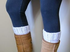 Boot Cuff - free pattern - ravelry.com ~ cute little cuff to look like boot socks and protect your legs from the rub of the boot tops. Make it a little longer and you can fold it over the boot too.