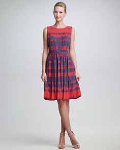 Broken Houndstooth-Print Dress by Peter Som at Neiman Marcus.