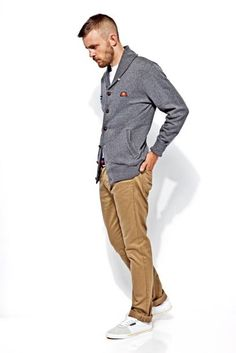 Nice and Casual. Grey and khaki.