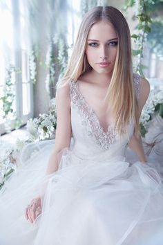 Bridal Gowns, Wedding Dresses by Alvina Valenta - Style AV9450