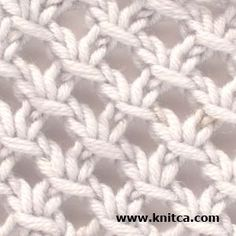 Right side of knitting stitch pattern – Lace 8
