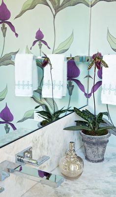 Beautiful bathroom reflection - interior designer Anne Hepfer