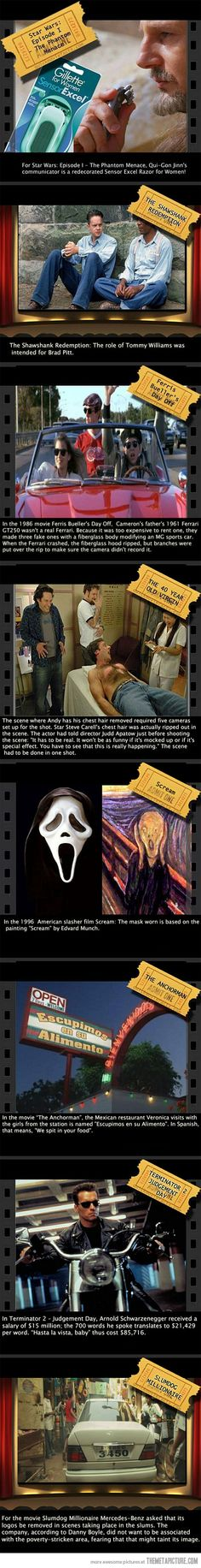 Awesome movie facts.