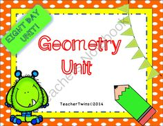 Geometry Unit Common Core 7 G. 2 and 7 G. 5 from Teacher Twins on TeachersNotebook.com -  (131 pages)  - This is an 8 day unit on Geometry. It includes complementary, supplementary, vertical and adjacent angles as well as triangle properties.
