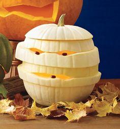 How to carve a mummy pumpkin
