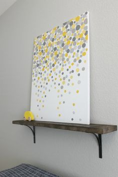 Super easy DIY art. One hobby lobby canvas, acrylic paints if your choice, and your finger!!