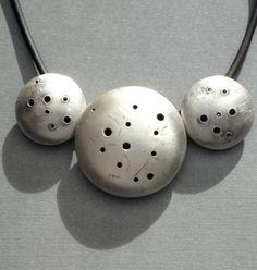 Sterling Silver Handmade Hollowform Bead by mdStaussDesigns, $178.00