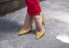 a pair and a spare . diy fashion: DIY [MIU MIU INSPIRED] LOUBOUTIN GLITTER PUMPS