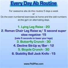 Every Day ab routine via @Carissa Bealert @Charissa