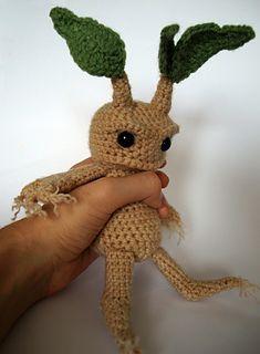 Crochet Mandrake Plant Doll Guy. Love this.