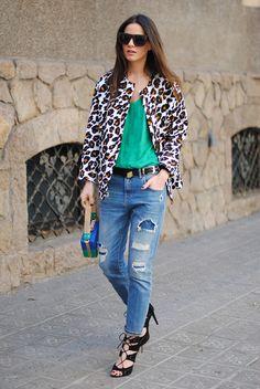 LOVE Leopard On Green