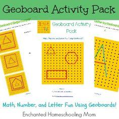 Geoboard Activity Pack – Enchanted Homeschooling Mom