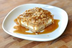 Caramel Apple Cheesecake Bars with Streusel Topping | Mel's Kitchen Cafe
