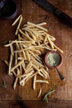 fries with lemon + rosemary salt.