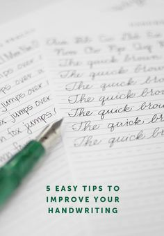 5 easy tips for improving your handwriting. Free printable print and cursive alphabet guide sheets included.