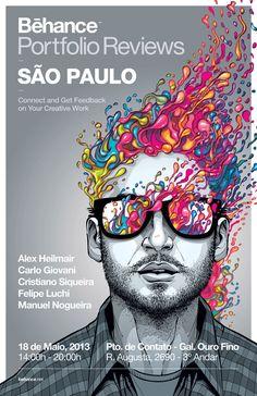 Behance Porfolio Reviews São Paulo - Poster by Cristiano Siqueira, via Behance