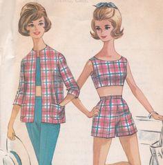 McCall 6379 // A basic crop top option (on a gal who looks kind of like Barbie...)
