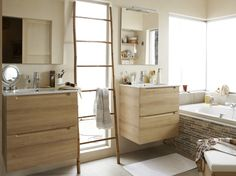 Jolies id es d co on pinterest 218 pins - Echelle en bambou salle de bain ...