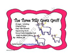 The Three Billy Goats Gruff--Original Story with Math/Literacy from Melissa Joe on TeachersNotebook.com (26 pages)  - The Three Billy Goats Gruff