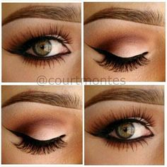 eyeshadow, gorgeous eye makeup, beauti, hazel eyes, green eyes, winged eyeliner, wedding makeup, hair, prom makeup
