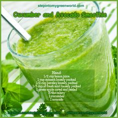 ☛ An instant energy booster smoothie to get you through the holiday season:  Try to make this 2 to 3 times a week for breakfast or during the day.    ❥ Body healer:  The greens are power-packed with Antioxidants that help heal your body  ❥ Weight loss aid: You will feel full fast  ❥ Aids against constipation as it is high in fiber content  ❥ Stomach healer: Helps heal GI tract lining  ❥ Immune system booster