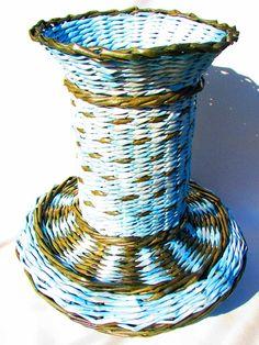 Fondo ovalado para cestas.