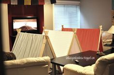 Lindsay & Drew: free and easy tutorial to make A-Frame Tents using a flat sheet